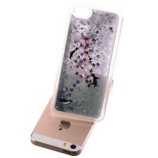 Apple iPhone SE 5 5S Hard Handy Tasche Glitzer Star Cover Hülle Bling Penguins