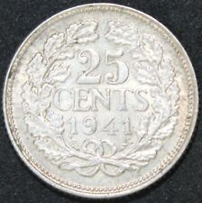 1941 | Netherlands 25 Cents | Silver | Coins | KM Coins