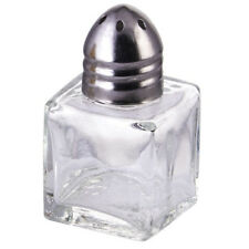Winco G-100, 0.5-Ounce 2-Inch High Square Salt and Pepper Shaker with Chrome Top