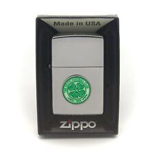 More details for personalised celtic fc genuine zippo cigarette lighter engraved gift