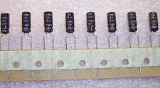 QTY (100) 10uf 16V 105' RADIAL ELECTROLYTIC CAPACITORS EKMG160ETC100ME NCC ROHS