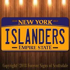 Islanders NHL Hockey Team New York Aluminum Vanity License Plate New