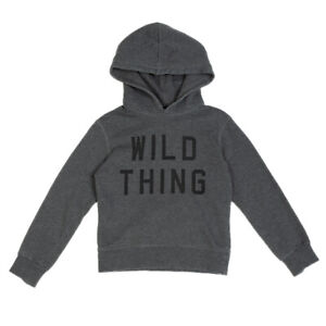 DSQUARED2 Hoodie Size 8Y Melange Print 'WILD THING' Front Made in Italy
