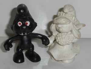 Schlumpf Schlümpfe schwarzer Schlumpf und weiße Schlumpfine Schleich 2.0412