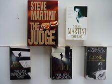 STEVE MARTINI & PHILLIP M. MARGOLIN -  JOB LOT 5 CRIME/THRILLER FICTION BOOKS