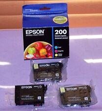 Genuine EPSON 200 Magenta Cyan Yellow Ink Cartridge T200520 - New Other