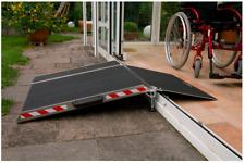 LUKOS Rollstuhlrampe Altec BTR Länge: 400/800 mm Türschwellenrampe für Rollstuhl
