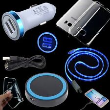 QI Wireless Charging Pad+Car Charger+Cable+Clear Case for Samsung Galaxy S7 edge