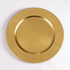 Charger plates Gold Beaded Premium Quality 48 Pack