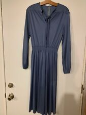 Vintage 1960's-70's Disco Style Blue Metallic Party Dress