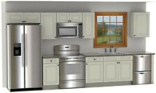 New listing Cream Painted CabinetryW Glaze and Free Shipping 14 foot run On Sale!