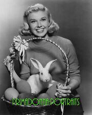 DORIS DAY 8X10 Lab Photo 1950s EASTER Bunny, Eggs in Basket, Adorable Portrait