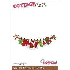 "CottageCutz Die  4"" x 6"" ~ Santa's Clothesline, 4X6026 ~ DISCONTINUED!"