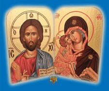 Orthodox Icon Diptych Jesus Christ & Panagia Icons Orthdoxes Ikonen Diptychon