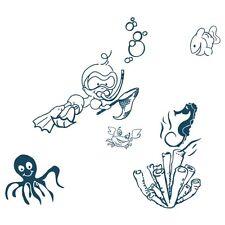 Adesivo cameretta Composizione marina Acte Deco