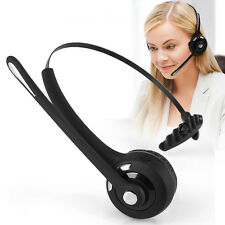 Noise Cancelling Earpiece Bluetooth Headset Headphone Boom Mic For Truck Driver