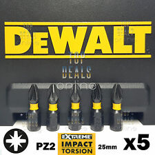 DeWALT PZ2 Extreme Torsion Impact Screwdriver Bits Pozi 25mm x5 Bits Fits Makita
