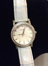 DKNY NY8014  QUARTZ WOMEN WATCH Mother of pearl  Light  Blue Leather Strap