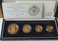 More details for 1989 4 coin tudor rose 500th anniversary gold proof set