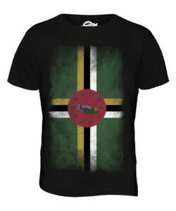 DOMINICA FADED FLAG MENS T-SHIRT TEE TOP DOMINICAN SHIRT FOOTBALL JERSEY GIFT