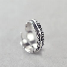1 Pc Vintage Feather Arrow Opening Rings For Women And Men Silver Jewelry  LD