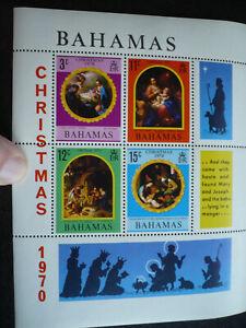 Stamps - Bahamas - Scott# 312a - Souvenir Sheet of 4 Stamps plus 2 Labels