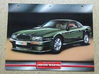 ASTON MARTIN Virage  - ORIGINAL 'Dream Cars' Colour Photo & Information Sheet.
