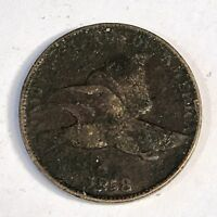 1858  Flying Eagle Cent - SL or LL ?? -  Circulated - High Quality Scans #C543