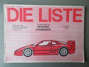 DIE LISTE SAMMLERFREUNDE von BURAGO DIAMONDS 1996 Kai WALTER Sammler Katalog RAR