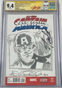 Marvel All New Captain America #1 Signed by Stan Lee & Allen Bellman CGC 9.4 SS