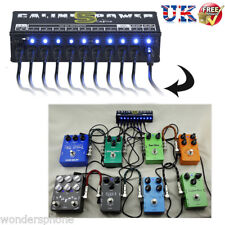 10-Isolated Power Supply Output for 9V/12V/18V Guitar Effects Pedal Board UK