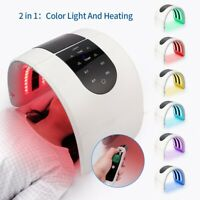 2 In 1 6 Colors Heating PDT LED Light Photon Therapy Skin Care Anti Aging Facial