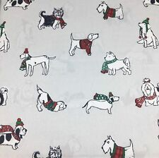 Cynthia Rowley Holiday Christmas Dogs King Sheet Set Dachshund Schnauzer Lab