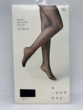 A New Day Sheer Hosiery 20 Denier Black L/XL ~ Read!