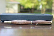 Handmade Walnut Wood Pen/ gold hardware