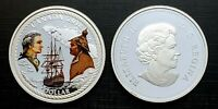 Canada 2018 Captain Cook Colourized Silver Proof Dollar!!