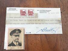 More details for admiral donitz original telegram / letter .message and signed in ink