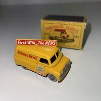 Matchbox Moko Leseny No 42 - Evening News Van W/ Original Box