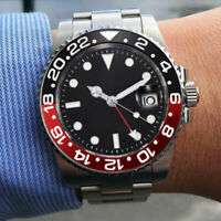 43mm PARNIS Schwarz dial Saphirglas GMT Herren Automatische movement men's Watch