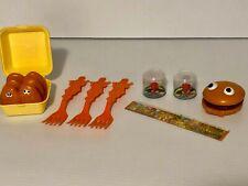 Vintage 1980s McDonalds Lot - collectable nuggets, forks, ruler, hambuger, toy