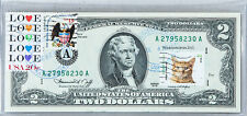 Paper Money US Two Dollar Bill 1976 National Currency Note $2 Gem Unc Stamps Cat