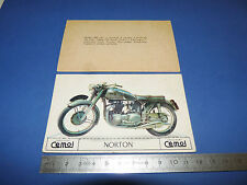 CHROMO 1950-1959 CHOCOLAT CEMOI DECOUPAGE MOTO NORTON 500 FEATHERBED