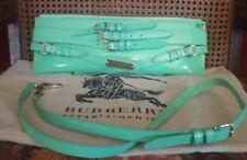 BURBERRY PRORSUM Mint Patent Bridle Buckles Handbag/Clutch