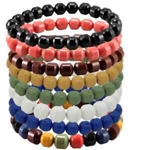 Health Ion Tourmaline Beads Stretch Bracelet Wristband Balance 8 colous U choose