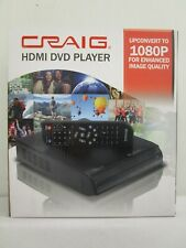CRAIG HDMI DVD PLAYER 1080P w/ REMOTE CONTROL AV CABLE AC / DC ADAPTER NT 7786