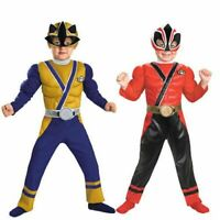 Toddler Child TV Show Nick Super Power Rangers Samurai Muscle Gold Red Costume