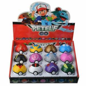 12Pcs Pokemon Ball Set Pokeball GO Pikachu Action Figures for Kids Toys Gift!!!