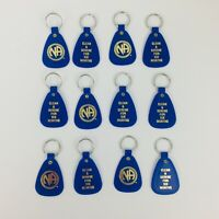 NARCOTICS ANONYMOUS  NA KEY TAG Blue 6 Months Recovery  12 LOT English