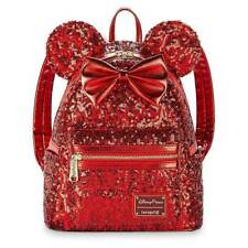 Loungefy Disney Parks Exclusive Minnie Mouse Red Sequine Mini Backpack