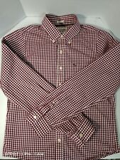 Abercrombie & Fitch Men's Button Up Muscle Shirt Long Sleeve Checks Brown XL